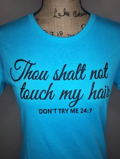 Natural Hair Tee Don't Touch My Hair by PolkaDotPoshBoutique