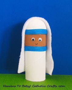 Celebrate the newest saint in the Church! Make a toilet paper figure of her. Are you wondering where her domed head came from? It is the rounded head of a plastic Easter egg half! A fun and easy craft for children of all ages. Heavens To Betsy! Catholic Crafts. com