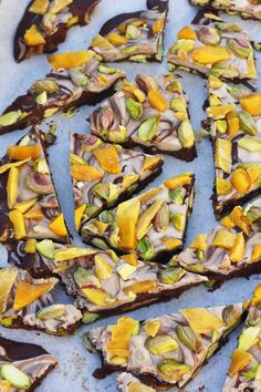 Mango and pistachio dark and white chocolate bark. Need a last-minute gift idea for a friend or family member? Or something nice to take along to a dinner party? This chocolate bark is perfect!