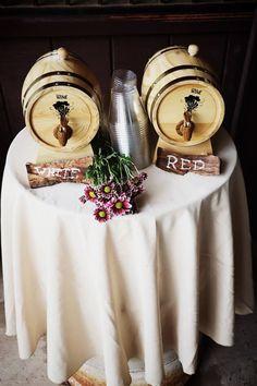 Rustic Wedding Wine Barrels