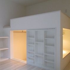 のデザイナーズ/賃貸/ロフト/部屋全体についてのインテリア実例を紹介。「[注目の新築]護国寺 1K 23.6m² 7.9万円 http://www.goodrooms.jp/detail/001/24695105/ 家の中に秘密基地出現…!ロフト部分をうまく使って、階段収納とカマクラみたいなプライベートスペース作ってしまいました。新築なので、キッチンやバスルームもかなり余裕あります。」(この写真は 2014-10-20 17:51:43 に共有されました)