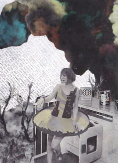 """Erin Case; Paper, 2011, Assemblage / Collage """"Collapse"""""""