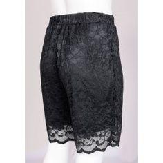 Sorte blonde shorts med elastik i taljen