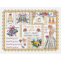 "Wedding Collage Counted Cross Stitch Kit-13-1/4""X10"" 14 Count - Overstock™ Shopping - Big Discounts on Janlynn Cross Stitch Kits"
