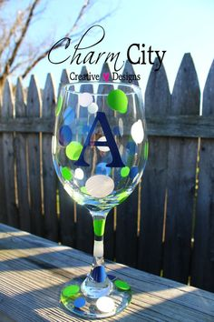 Personalized Wine Glass 20 oz Wedding Bridal Party by ahindle78, $10.00