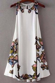 Lace-Up Asymmetrical Cut Out Floral Dress Stylish Scoop Neck Floral Print Lace-Up Asymmetrical Dress For Women Cute Dresses, Casual Dresses, Cute Outfits, Summer Dresses, Dresses 2016, Tailored Dresses, Floral Dresses, Dresses For Women, Printed Dresses