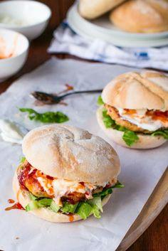 Sweet Chilli Chicken Burgers - Cafe Delites-34