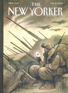 "The New Yorker - Monday, February 10, 2003 - Issue # 4017 - Vol. 78 - N° 46 - Cover ""V Day"" by Carter Goodrich"