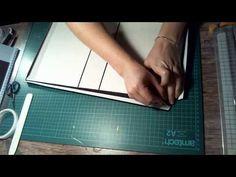 Comment réaliser une couverture d'album avec une reliure accordéon - YouTube