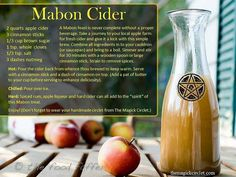 Wiccan Empath Essential Oil Tools for Meditation, Divination & Witchcraft Mabon Cider for your equinox ritual Mabon, Magick, Witchcraft, Wiccan Spells, Autumnal Equinox, Under Your Spell, Kitchen Witchery, Book Of Shadows, Slushies