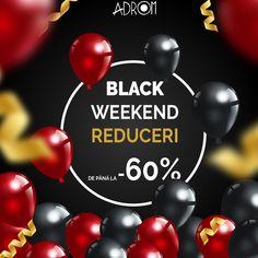 ↘ La ADROM nu avem Black Friday, ci BLACK WEEKEND❗ Îți oferim un întreg weekend pentru a profita de reduceri la toate produsele de pe site, de până la 60%.✂ ❤ Fii pe fază la miezul nopții, de la 00:01 când dăm startul și plasează comenzi pe www.AdromCollection.ro ⚡✅ Chiar dacă ai timp până duminică la 23:59, îți recomandăm să te grăbești, stocul este LIMITAT!❗