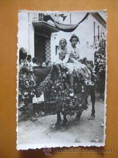 fallas valencia.niños en caballo -ae.-606.- - Comprar Postales antiguas de la Comunidad Valenciana en todocoleccion - 34560031