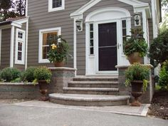 front porch steps - regular and only 1 large rounded