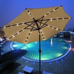 OUTT® Outdoor 9u0027 LED Patio Beach Aluminum Sunshade Umbrella Solar 24 LED  Lights Wine OUTT Http://www.amazon.com/dp/B00JUP4G0Q/refu003dcm_sw_r_pi_dp_2cGu2026