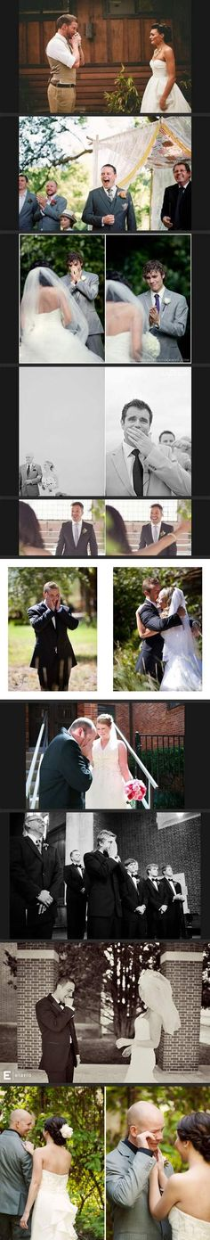 Grooms Seeing Their Brides On Their Wedding Days For The First Time. So adorable!!!!