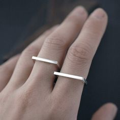 Silvery Adam Smile ring by Minicyn on Etsy