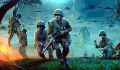 D-Day. The 82nd Airborne at St. Mere Eglise.