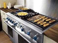 "commercial Thermador gas range  | Thermador Pro Grand 48"" Dual Fuel Range 6 Burners w/ Griddle ..."