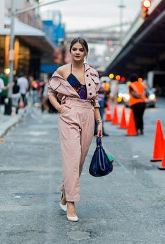 Mix it up this fall by unbuttoning the first few buttons of your jumper and throwing a bold top underneath.