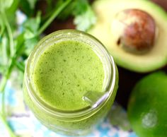 Healthy Avocado Cilantro Lime Dressing is a flavorful way to dress your salad or rice bowl. It's gluten-free, paleo and keto-friendly! Avocado Cilantro Lime Dressing, Avocado Salad, Keto Salad Dressing, Clean Eating Plans, Taco Dinner, Whole Food Recipes, Healthy Recipes, Keto Recipes, Paleo Meals