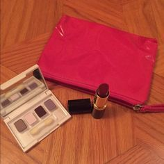 Lancôme Makeup Bundle 1) Exceptional Lipstick in Wild Winterberry 2)Eyeshadow Quad (Elizabeth Arden) 3)Pink Makeup Bag.... CAN MIX AND MATCH WITH OTHER MAKEUP BUNDLES Lancome Makeup Eyeshadow