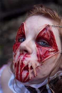 Looking at this makeup made us wince. #InkedMagazine #Halloween #makeup #Horror #creepy #halloweenmakeup #scary