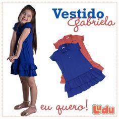 Loja Ludu, coleção 2014, vestido Gabriela. Moda para meninas. #moda #menina #fashion #kids #girls #vestido #dress Compre pelo site: www.ludu.com.br