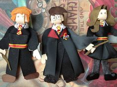 Harry Potter Set of 3 Hair Clips on Etsy, $33.00. Some other amazing clips as well. Disney, superheroes, Pooh!