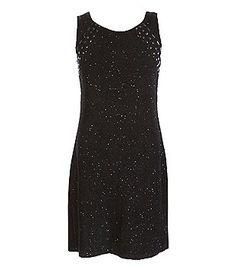Elisa B Big Girls 7-16 Glitter-Knit Cutout-Back Sheath Dress
