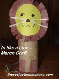 In Like a Lion — Cardboard Tube Craft