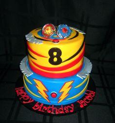 Beyblades cake www.cuteologyshop.com