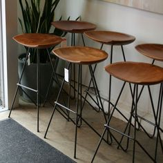 These Mid Century bar stools would look great on your kitchen island at One Observatory Park!