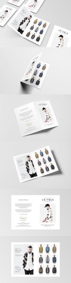 Fashion - Square Tri-Fold Brochure Brochure Templates Brochure - fashion design brochure template