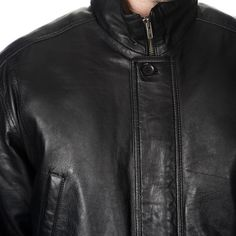 WhetBlu Men's Mid-length Leather Jacket - Overstock Shopping - Big Discounts on Jackets