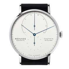 Lambda Weißgold with tempered blue hands sapphire crystal back | Beautiful watches purchased online. Directly from NOMOS Glashütte.