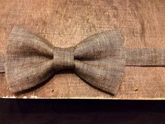 The Dirty Rogue  Wood Black Linen Bow Tie by raexarts on Etsy