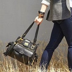 Freddy Shoulder Bag in Black by Elise Hope from Elise Hope on OpenSky