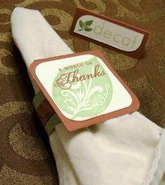 Homemade Napkin Rings & Placecards | Scrapedia