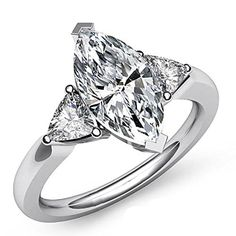 2.75 CARATS MARQUISE CUT DIAMOND ENGAGEMENT BRIDAL RING SET ON 18K SOLID GOLD LAB CREATED