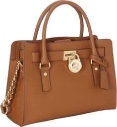 23c745c5dd2e MICHAEL Michael Kors Hamilton 18K E W Saffiano Satchel Handbag Luggage -  via eBags.