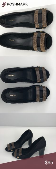 Gorgeous Leather Osklen Black Heels Wooden Buckle These shoes. Oh my. Designer quality epitomized. Black with wooden buckle. Chunky heels. Size 7. Gently used condition. Osklen Shoes Heels