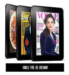 Kindle Fire HD Giveaway ends 11/1/13 open WW