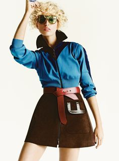 Karolina Kurkova in Louis Vuitton Fall 2014 for Glamour US September 2014 by Tom Munro