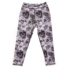 Dance pants. Electric & Rose Women's - Shell Legging - Skull Print   Pretty Little Liars