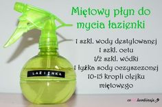 DIY_ekologiczne_srodki_czystosci Cleaning Hacks, Cleaning Supplies, Home Organisation, Organization, In Case Of Emergency, Green Cleaning, Natural Cosmetics, Hygge, Diy And Crafts