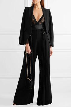 ERES Smoking silk-blend satin-trimmed Leavers lace bodysuit£571