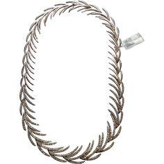 "IGI Certified Vintage 18K White Gold and Diamond Branch Necklace 17"" 7.19 carats"