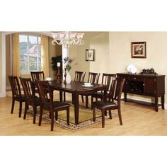 The Furniture Of America Edgewood I Dining Table Set In Espresso At Local Outlet Would Be A Great Item To Purchase Austin Texas