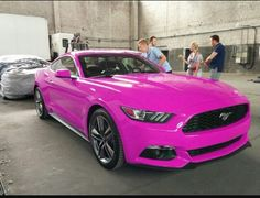 Hot Pink Mustang