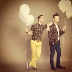 Kurt and Blaine. 1 of my many favorite Glee couples that I will always love and support.